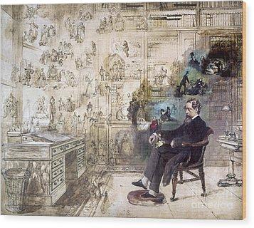 Charles Dickens (1812-1870) Wood Print by Granger