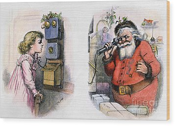 Thomas Nast: Santa Claus Wood Print by Granger