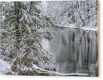 Wood Print featuring the photograph Winter Along Cranberry River by Thomas R Fletcher