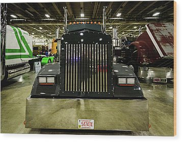 Wood Print featuring the photograph 2000 Kenworth W900 by Randy Scherkenbach