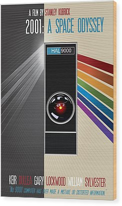 2001 A Space Odyssey Poster Print - No 9000 Computer Has Ever Made A Mistake Wood Print