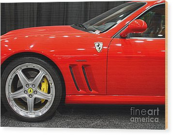 2003 Ferrari 575m . 7d9389 Wood Print by Wingsdomain Art and Photography