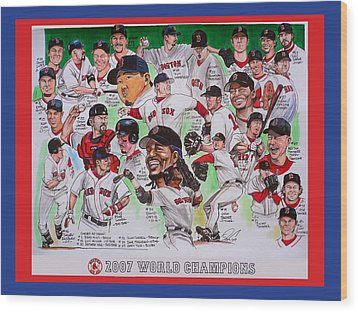 2007 World Series Champions Wood Print by Dave Olsen