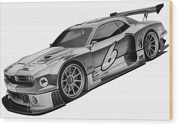 2009 Bo Zolland Dodge Challenger Wood Print by Lyle Brown