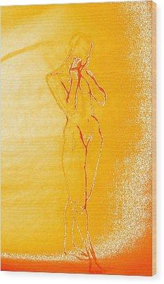 2009 Figure Study 6 Wood Print by Carol Rashawnna Williams