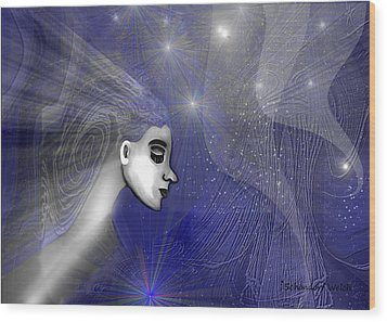 201 -   Traveling  Through   Veils Of Universe Wood Print by Irmgard Schoendorf Welch