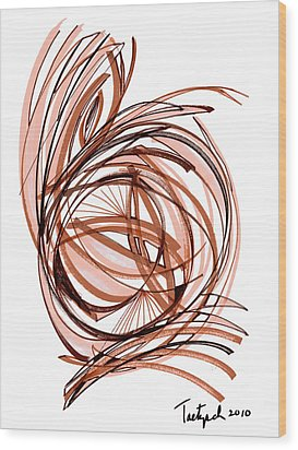 2010 Abstract Drawing Six Wood Print by Lynne Taetzsch