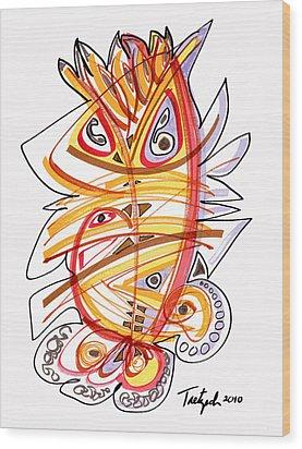 2010 Drawing Three Wood Print