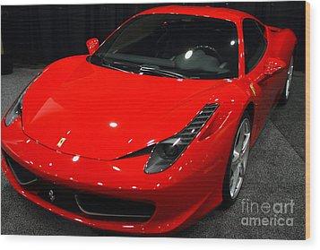 2011 Ferrari 458 Italia . 7d9397 Wood Print