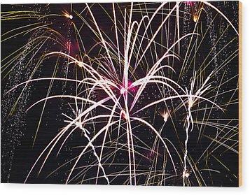 2011 Fireworks Wood Print by Robert  Torkomian