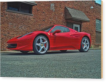 Wood Print featuring the photograph 2012 Ferrari 458 Spider by Tim McCullough