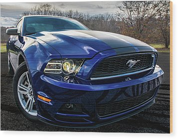 Wood Print featuring the photograph 2014 Ford Mustang by Randy Scherkenbach