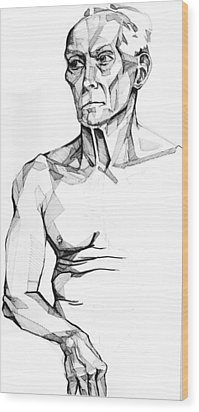 Wood Print featuring the drawing 20140118 by Michael Wilson