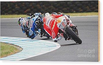 2015 Aussie Moto Grand Prix Wood Print by Blair Stuart