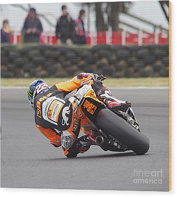 2015 Moto Grand Prix Wood Print by Blair Stuart