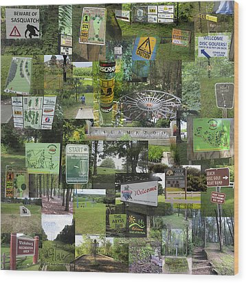 2015 Pdga Amateur Disc Golf World Championships Photo Collage Wood Print by Robert Glover