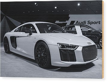 2017 Audi R8 Wood Print by Rachel Cohen