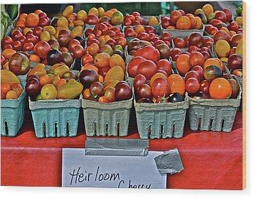 2017 Monona Farmers' Market August Heirloom Cherry Tomatoes Wood Print