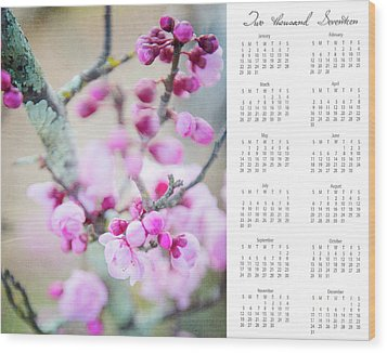 Wood Print featuring the photograph 2017 Wall Calendar Cherry Blossoms by Ivy Ho