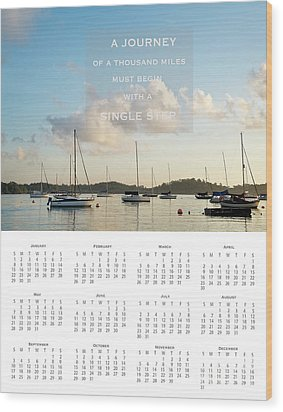 Wood Print featuring the photograph 2017 Wall Calendar Journey by Ivy Ho
