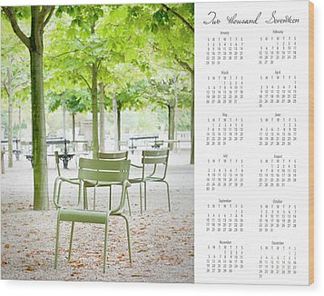 Wood Print featuring the photograph 2017 Wall Calendar Paris by Ivy Ho