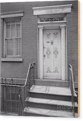 204 West 13th Street Wood Print by Lionel F Stevenson