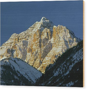 210418 Pyramid Peak Wood Print
