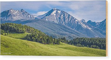 #215 - Spanish Peaks, Southwest Montana Wood Print