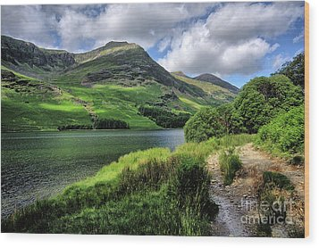 Buttermere Wood Print by Nichola Denny