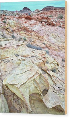 Wood Print featuring the photograph Colorful Sandstone In Valley Of Fire by Ray Mathis