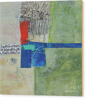 Wood Print featuring the mixed media 23 by Elena Nosyreva