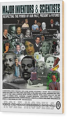 Major Inventors And Scientists Wood Print by Purpose Publishing