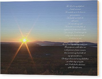 Wood Print featuring the photograph 23rd Psalm by Greg DeBeck