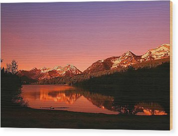 Mountain Lake Wood Print