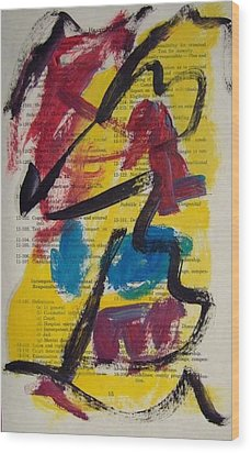 Abstract On Paper No. 17 Wood Print by Michael Henderson
