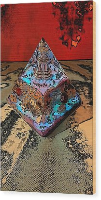 Abstract Orgone Wood Print
