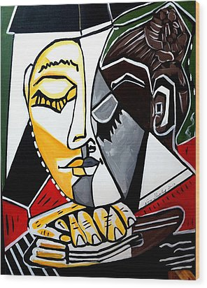 Picasso By Nora Fingers Wood Print