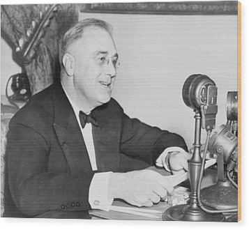President Franklin D. Roosevelt Wood Print by Everett