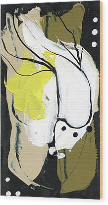 Wood Print featuring the painting Three Color Palette by Michal Mitak Mahgerefteh