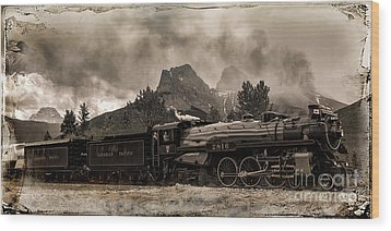 2816 Empress At Three Sisters - Canmore Wood Print