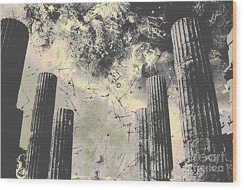 Akropolis Columns Wood Print