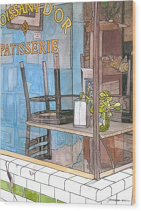 29  Croissant D'or Patisserie Wood Print by John Boles