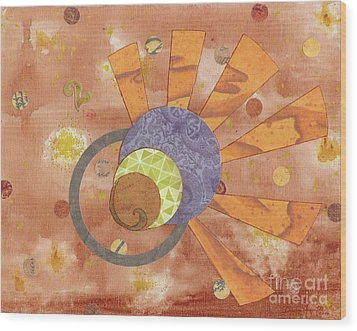 Wood Print featuring the mixed media 2life by Desiree Paquette