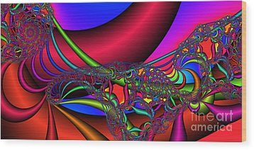 2x1 Abstract 360 Wood Print by Rolf Bertram