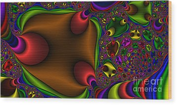 2x1 Abstract 363 Wood Print by Rolf Bertram