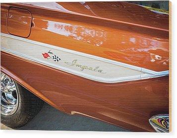 1961 Chevrolet Impala Ss  Wood Print by Rich Franco