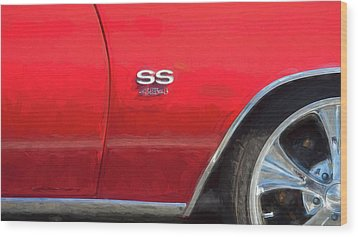 1970 Chevy Chevelle 454 Ss  Wood Print by Rich Franco