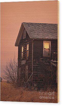 Wood Print featuring the photograph Abandoned House by Jill Battaglia
