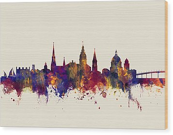 Wood Print featuring the digital art Annapolis Maryland Skyline by Michael Tompsett
