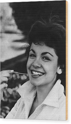 Annette Funicello, 1961 Wood Print by Everett